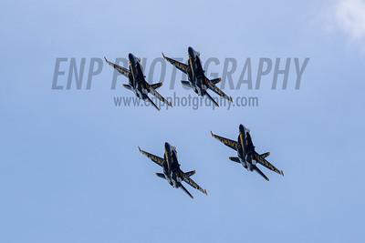 Blue Angels at the Air Show at Andews