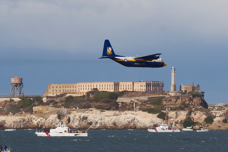 Big Bertha over Alcatraz