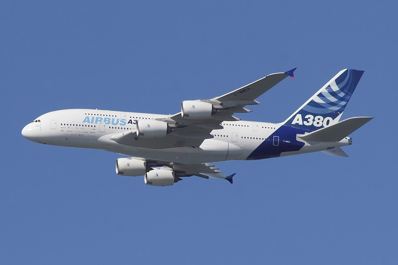 The new Airbus A380...it was pretty huge.