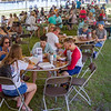 The crowds enjoyed their festival goodies under tents with cooling stations throughout. Fran Ruchalski/Palatka Daily News