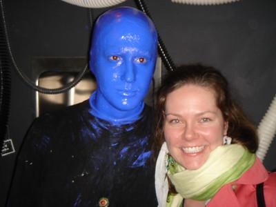 Megan and a Blue Man!