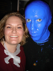 Me and a Blue Man!
