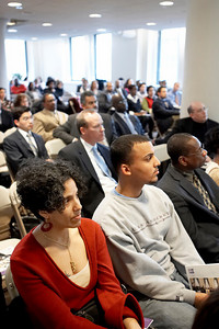 March 19, 2007. Boston, MA. Initiative for Diversity in Civic Leadership.  Briefing on How to Apply to Serve on State Boards and Commissions. Kahlil Byrd, Gov. Patrick's Appointment Secretary, Ron Bell, Director of the Office of Public Liaison, and Richard Chacon, Policy Director.