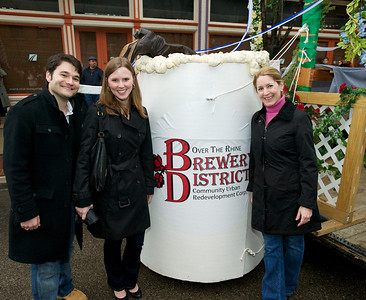 Jon Alfano and Suzanne Fox of Chicago and Zand Walters from Mt Adams at Bockfest on Friday