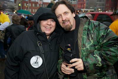 Karen and Tim McPartlin of the Cincinnati Malt Infusers at Bockfest on Friday