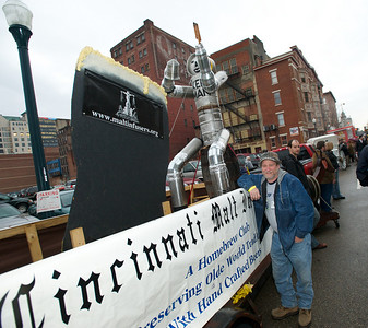 Jim McPartlin of the Cincinnati Malt Infusers Homebrewing Club at Bockfest on Friday