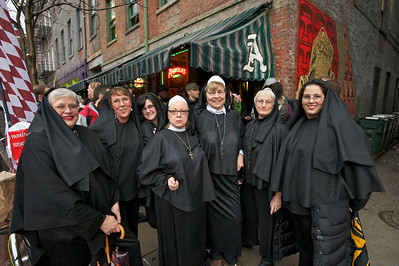 The Holy Sister Mary Gals from Cincinnati at Bockfest on Friday