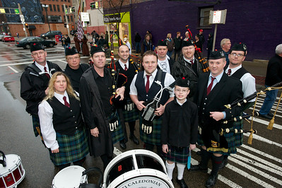 The Cincinnati Caledonian Pipes and Drums at Bockfest on Friday