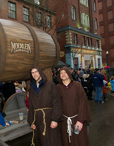 Monks Eric Evans and Chris Gillaugh (who hasn't missed the event once since 1995) at Bockfest on Friday