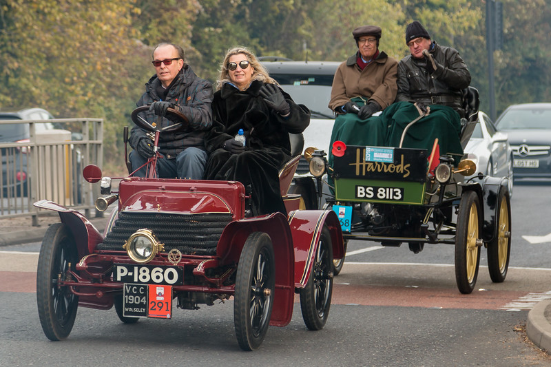 1904 Wolseley Two seater and 1901 Waverley Electric Powered Cleveland