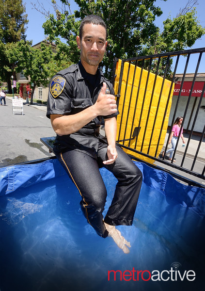 Campbell Police charity dunk tank