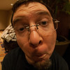 Steve made a fish face for the fish-eye lens.