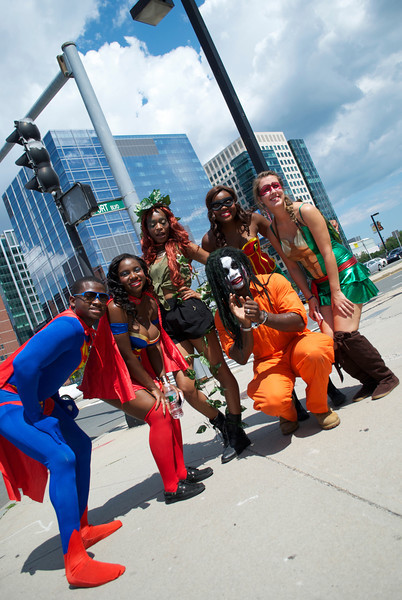 Superman, Supergirl, Poison Ivy, Robin, a TMNT, and the Joker.