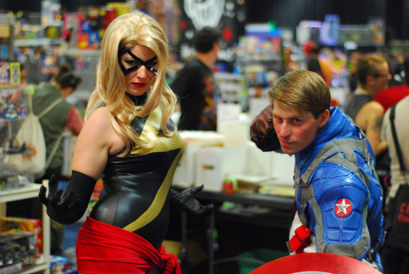 Captain America, and Miss Marvel. Thanks Jaime Renee for the correction!