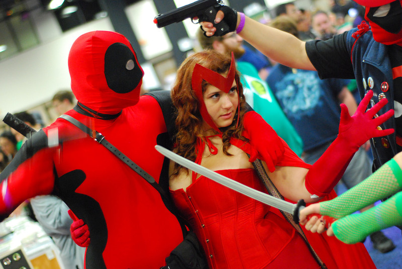 Deadpool and Scarlet Witch. Thanks Steven for the correction!