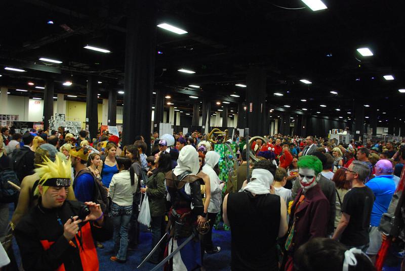 The crowd at Boston Comic Con.
