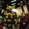 Bumblebee and Iron Man team up.
