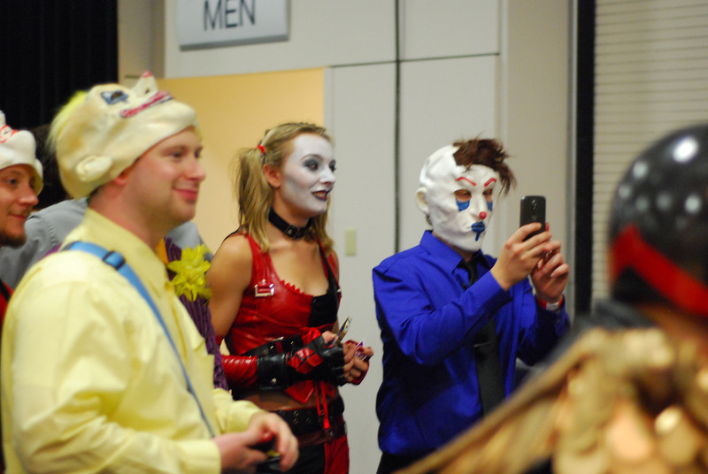 """People in costume taking pictures of other people in costume"" is one of my favorite subjects."