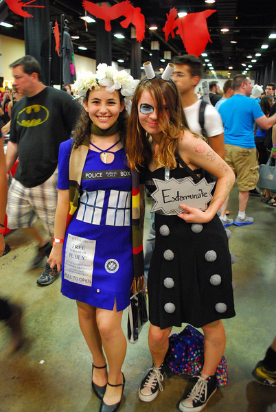 This is definitely the TARDIS and a Dalek.