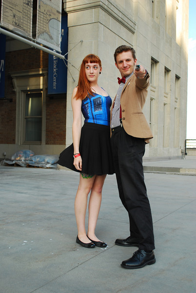 Meanwhile a not-so-lonely 11th Doctor and a TARDIS strike a pose.