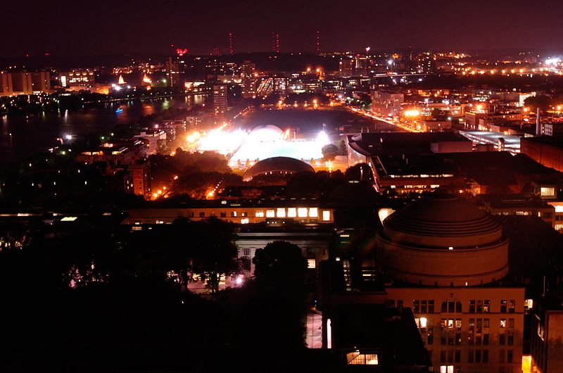 MIT's campus is seen from atop of the Green Building in Cambridge, Sunday, July 4, 2004.