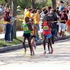 Leading ladies, Caroline Kilel, Kenya, first place finisher (2:22:38) Desiree Davila, USA, second place (2:22:38)
