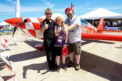 Sean D Tucker, Pilot of the Oracle airplane, with Kyra and myself