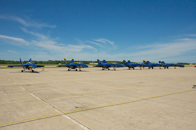 Blue Angels on the tarmac