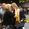 "Kaley Feenstra, with tears in her eyes, gets a hug from her mother Rhonda after the Monarch High School Commencement at the Coors Events Center on the CU Boulder Campus on Saturday May 22, 2010.<br /> For more photos and a video of the graduation go to  <a href=""http://www.dailycamera.com"">http://www.dailycamera.com</a><br /> Photo by Paul Aiken / The Camara /"