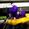 """Spencer Lacy, 18, Gordon Bowman, 18, Jake More, 18, Alex Gomez-Andrews, 18, Leo Skovron, 17, and Stephen Scowcroft, 17, use their weight to push themselves over the dam at Broadway on the Boulder Creek as they raft to their graduation ceremony at Boulder High School, Saturday, May 22, 2010. <br /> <br /> Kasia Broussalian<br /> <br /> For a video of the graduation ceremony, please visit  <a href=""""http://www.dailycamera.com"""">http://www.dailycamera.com</a>"""