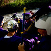 """Spencer Lacy, 18, Gordon Bowman, 18, Jake More, 18, Alex Gomez-Andrews, 18, Leo Skovron, 17, and Stephen Scowcroft, 17, prepare to raft down the Boulder Creek to their graduation ceremony at Boulder High School, Saturday, May 22, 2010. <br /> <br /> Kasia Broussalian<br /> <br /> For a video of the graduation ceremony, please visit  <a href=""""http://www.dailycamera.com"""">http://www.dailycamera.com</a>"""