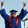 "Gregory Garcia acknowledges the crowd before getting his diploma during the Centaurus High School Commencement at the school in Lafayette on Saturday May 22, 2010.<br /> For more photos and a video of the graduation go to  <a href=""http://www.dailycamera.com"">http://www.dailycamera.com</a><br /> Photo by Paul Aiken / The Camara /"
