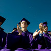 "(From left to right) Dave Sherrier, 17, Brendan Rice, 18, and Matt McCurdy, 18, clap during the commencement ceremony at Boulder High School, Saturday, May 22, 2010. <br /> <br /> Kasia Broussalian<br /> <br /> For a video of the graduation ceremony, please visit  <a href=""http://www.dailycamera.com"">http://www.dailycamera.com</a>"