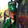 Alexandra O'Connor is a dragon in waiting at the festival.<br /> The Boulder Waldorf Kindergarten held its Michaelmas Harvest Festival at the school on Friday.<br /> Cliff Grassmick / October 2, 2009