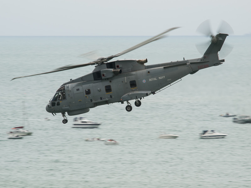 Royal Navy Merlin, Bournemouth Air Festival 2014