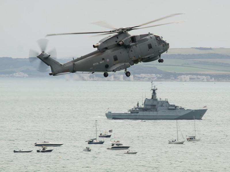 Royal Navy Merlin, Bournemouth Air Festival 2014