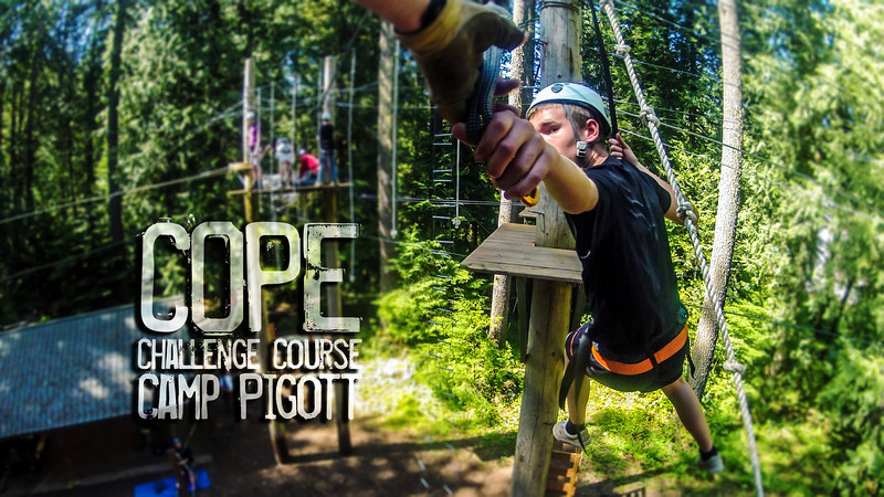 COPE ropes course at Camp Pigott
