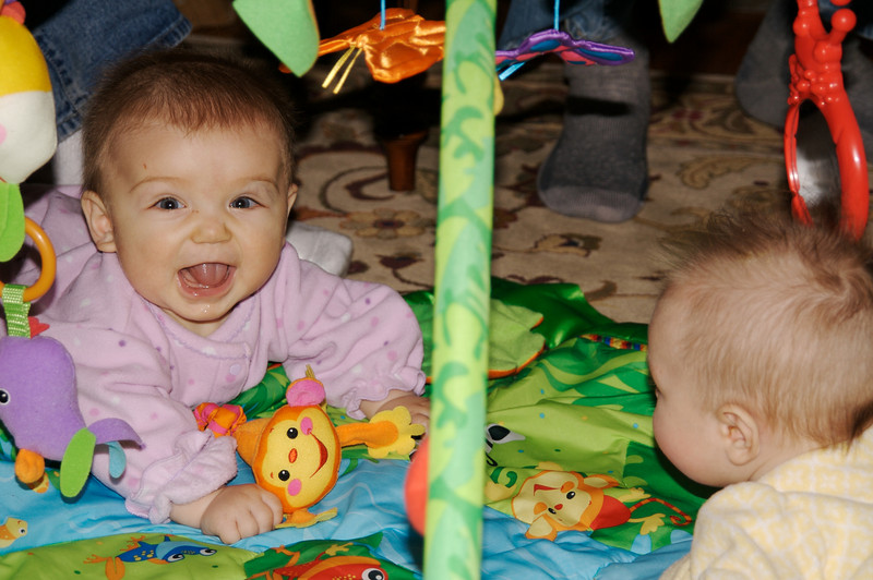 Gabriella and Eve playing together at the Bradley Reunion