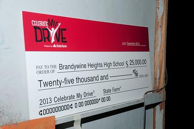 Patriot photos by Scott Weldon Brandywine Heights H.S. wins a $25,000 Celebrate My Drive grant.