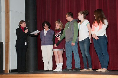 Patriot photos by Scott Weldon Brandywine Heights Principal Heather Piperato, SADD Advisor Michele Moore and members of SADD.
