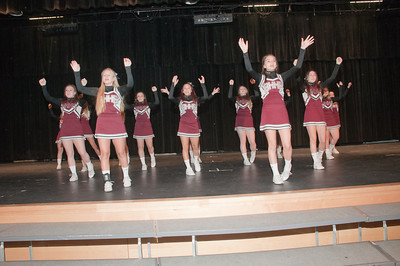 Patriot photos by Scott Weldon Brandywine Heights cheerleaders get the crowd pumped up.