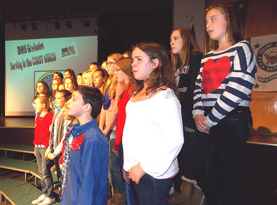 "Patriot photo by Lisa Mitchell Brandywine Heights Middle School Select Chorus sings ""Armed Forces - The Pride of America"" recognizing veterans and Brandywine graduates currently serving during the Veteran's Day program Nov. 11."