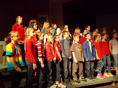 "Patriot photo by Lisa Mitchell Brandywine Heights 6th, 7th and 8th Grade Chorus sings ""America; The Spirit Lives on!"" during the district's Veteran's Day program Nov. 11."