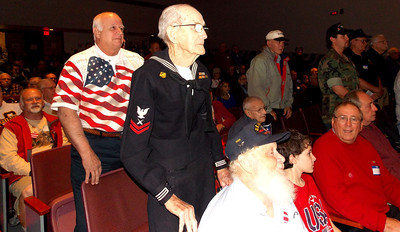 Brandywine Heights School District honored veterans during their 14th annual Veteran's Day Assembly Nov. 11. Patriot photo by Lisa Mitchell