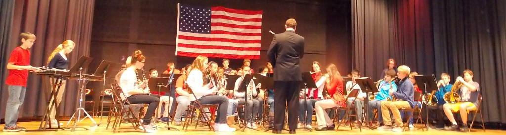 "Patriot photo by Lisa Mitchell Brandywine Heights 7th and 8th Grade Band performs ""The Thunderer"" by John Philip Sousa during the School District's Veteran's Day program Nov. 11."