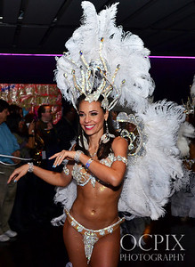 Beautiful Brazilian Carnaval dancer at Club Nokia