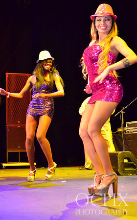 Dancing on stage at Club Nokia in Los Angeles