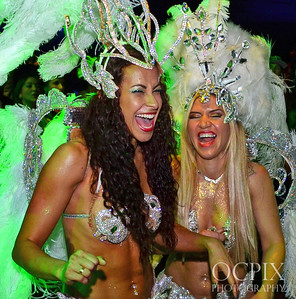 Dancers laughing and having fun at the Club Nokia in Los Angeles