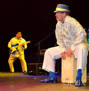 Musicians at the 2014 World Cup Brazilian Carnaval event at Club Nokia