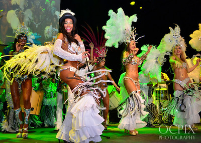 Carnaval Dancers performing at Club Nokia in Los Angeles